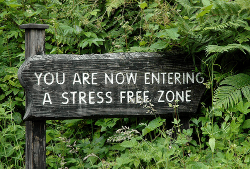 Vous entrez maintenant dans une zone libérée de tout stress