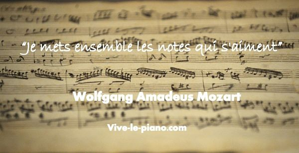texte musical  citation Mozart