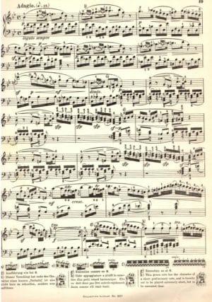 Extrait compliqué de l'Adagio de la sonate KV 332 de Mozart