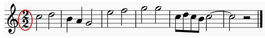 Déterminer les temps et pulsations dans un extrait musical